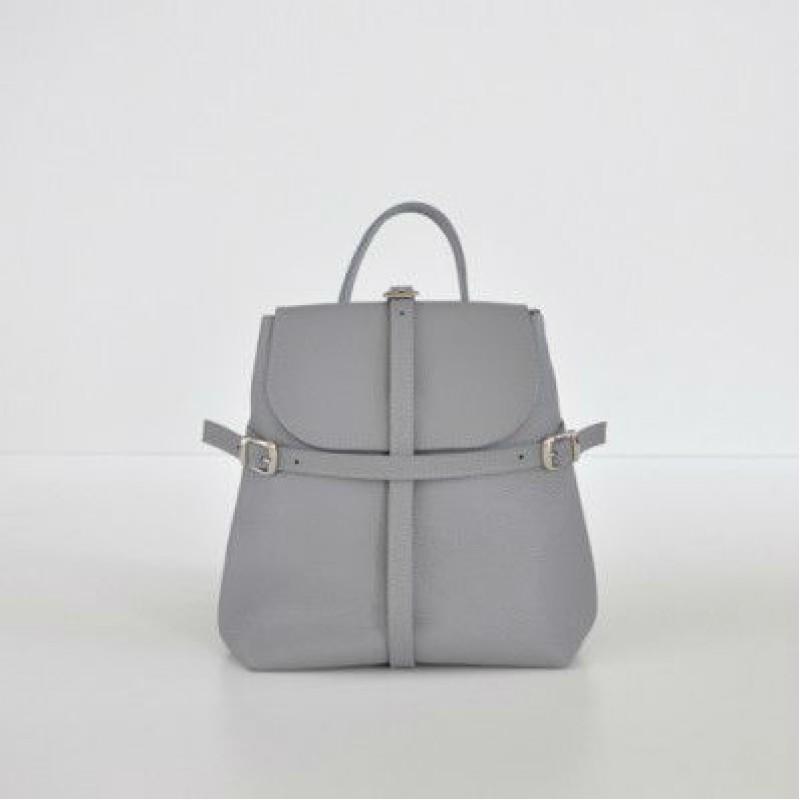 8d10bde155d8 Женский кожаный рюкзак Symbol Gray серый — купить в интернет ...