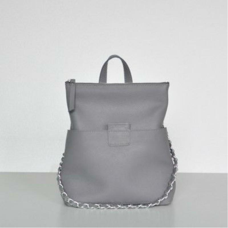Жіноча шкіряна сумка-рюкзак K-2 Grey сіра — купити в інтернет ... 237f9d563b7ed