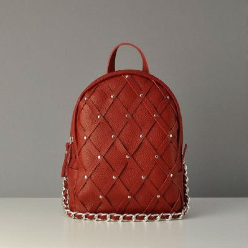 2e0c24b06057 Женский кожаный рюкзак Archer Red Chain красный — купить в интернет ...