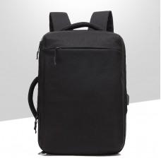 Городской рюкзак-сумка OZUKO 8904 с отделением для ноутбука 15,6 дюймов черный