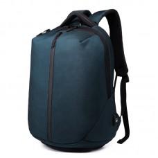 Рюкзак антизлодій з кодовим замком OZUKO 9080 з відділом для ноутбука 15,6 дюймів і відділом для взуття темно-синій