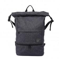 Городской рюкзак TuGuan 1761 RollTop с отделом для мокрых вещей черный