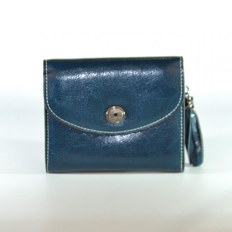 60a221b04704 Женский кожаный кошелек SENDEFN 00-52 синий купить в Киеве недорого