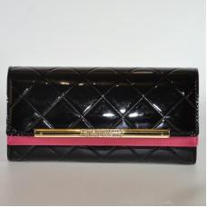 Жіночий шкіряний лакований гаманець SENDEFN 39-80 чорний