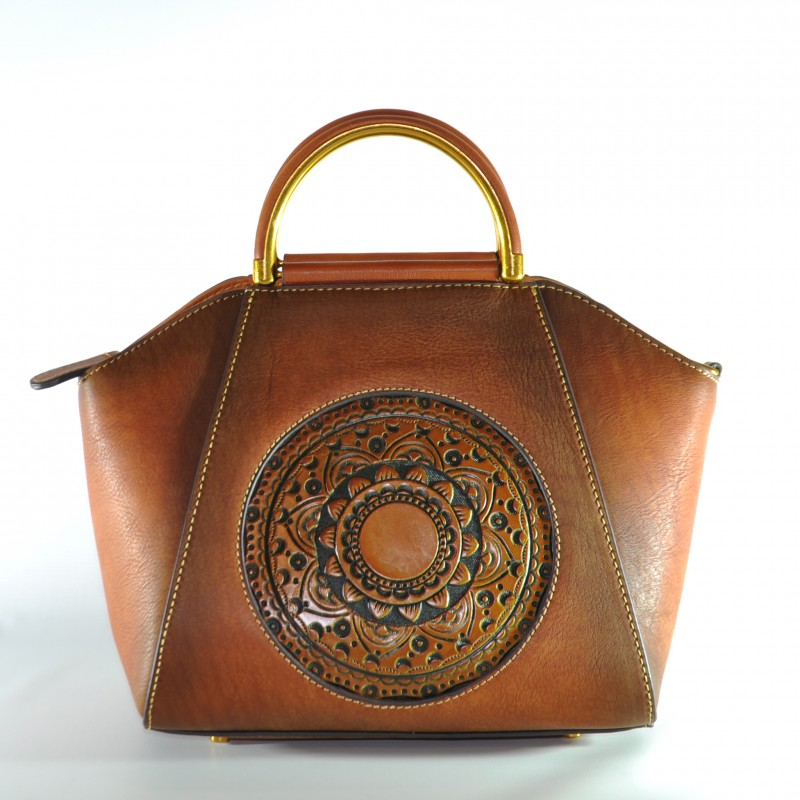 0c7ffb29e914 Женская кожаная сумка ручной работы Antigona brown коричневая купить ...