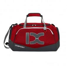 Сумка IX 17106 с карманом для мокрых вещей и обуви  красная