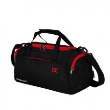 Спортивна сумка IX з відділом для взуття і для мокрих речей чорна