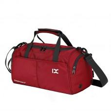 Спортивна сумка IX з відділом для взуття і для мокрих речей червона