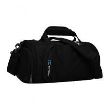 Спортивная сумка-бочёнок IX 8036 с отделом для обуви черная