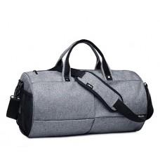 Спортивная сумка TuGuan 1698 с отделом для обуви серая