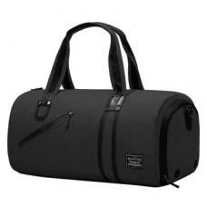 Спортивна сумка TuGuan 1811 з відділом для взуття і кишенею для мокрих речей чорна