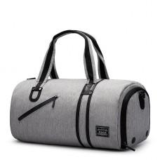 Спортивна сумка TuGuan 1811 з відділом для взуття і кишенею для мокрих речей сіра