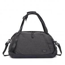 Спортивна сумка-рюкзак TuGuan 1816 з відділом для взуття і для мокрих речей чорна