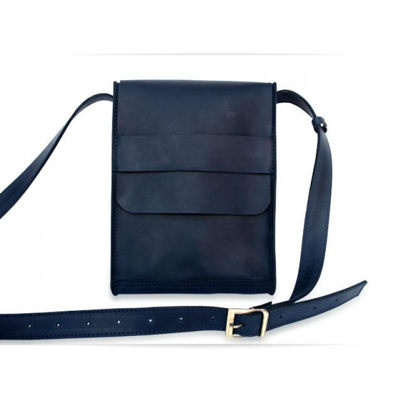Чоловіча шкіряна сумка Messenger blue horse W029.2 синя — купити в ... ec1aa3f226863