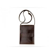 Мужская кожаная сумка Messenger brown horse W029 коричневая