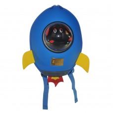Детский рюкзак SUPERCUTE в виде ракеты голубой