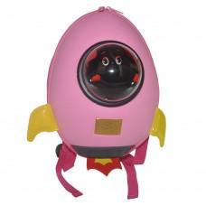 Детский рюкзак SUPERCUTE в виде ракеты розовый