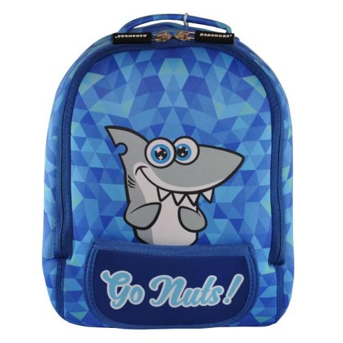 Дошкольный рюкзак KOKONUZZ-GO NUTS с акулой голубой