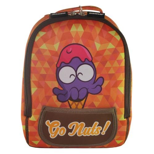 Дошкольный рюкзак KOKONUZZ-GO NUTS с осьминогом оранжевый