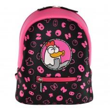 Дошкільний рюкзак KOKONUZZ-BE HAPPY з куркою чорно-малиновий