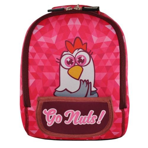 Дошкольный рюкзак KOKONUZZ-GO NUTS с курицей малиновый