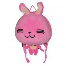 Детский рюкзак SUPERCUTE в виде зайчика розовый