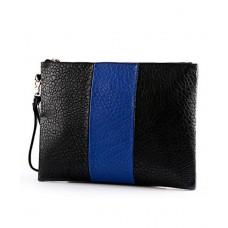 Клатч TRAUM 7112-01 чорний з синім