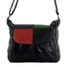 Сумка TRAUM 7220-29 черная с красным и зеленым