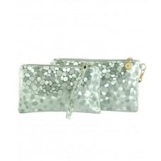 Комплект клатч и косметичка TRAUM 7202-33 серебряный