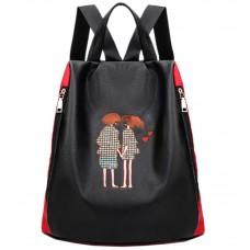 Рюкзак TRAUM 7229-51 черно-красный