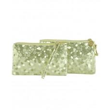 Комплект клатч и косметичка TRAUM 7202-35 светло-золотой