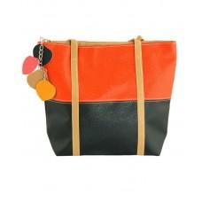 Сумка 7240-21 черная с оранжевым