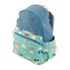 Рюкзак 7224-37 блакитний з зеленим