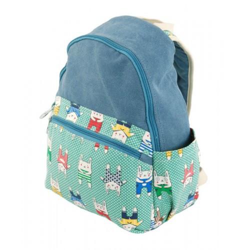 Рюкзак 7224-37 голубой с зеленым