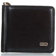 Зажим кожаный Desisan 208-1 черный гладкий