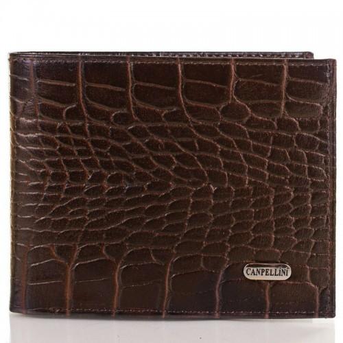 Портмоне кожа CANPEL 504-11 коричневый кроко
