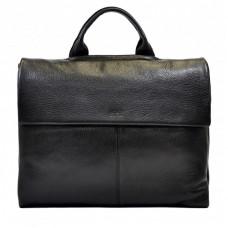 Портфель мягкий кожа BOND 1039-281 черный флотар