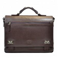 Портфель мягкий кожа BOND 1109-286 коричневый
