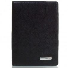 Обкладинка для паспорта шкіра KARYA 092-45 чорний флотар