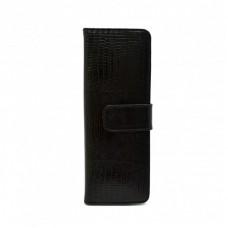 Визитница кожа CANPEL 124-8 черный лазер