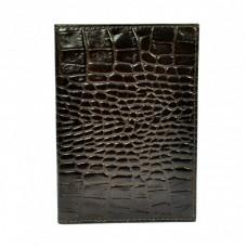 Обложка кожа паспорт мат. 003-11 коричневый кроко