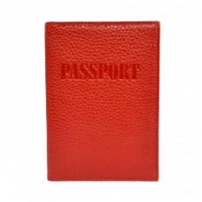 Обложка кожа паспорт лак 002-172 красный флотар