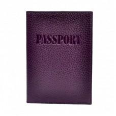 Обложка кожа паспорт мат. 003-95 фиолетовый флотар