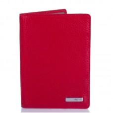 Обкладинка для паспорта шкіра KARYA 092-46 червоний флотар