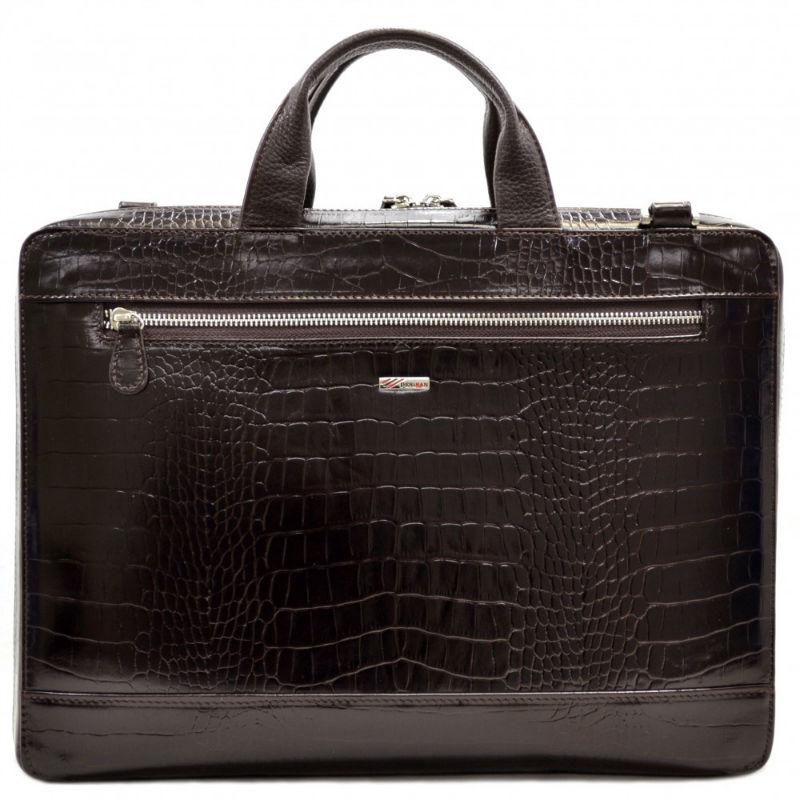 87164abf6b70 Портфель кожаный Desisan 1347-19 коричневый кроко   Продажа, обзор ...
