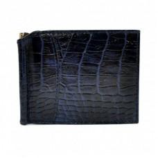 Портмоне с зажимом кожаный CANPEL 070-13 синий кроко