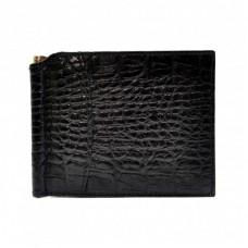Портмоне с зажимом кожаный CANPEL 070-2 черный кроко