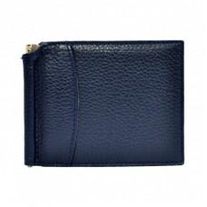 Портмоне с зажимом кожаный CANPEL 070-241 синий флотар