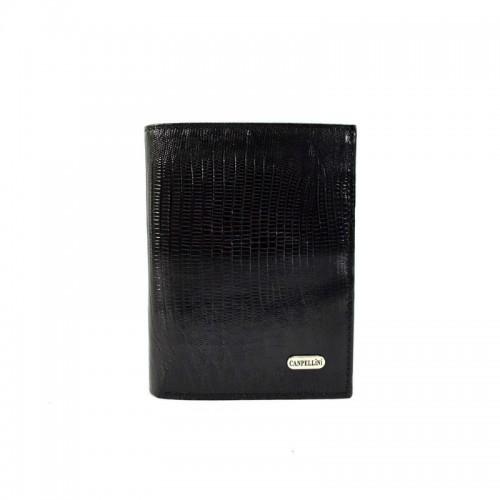 Шкіряне портмоне CANPEL 505-8 чорний лазер