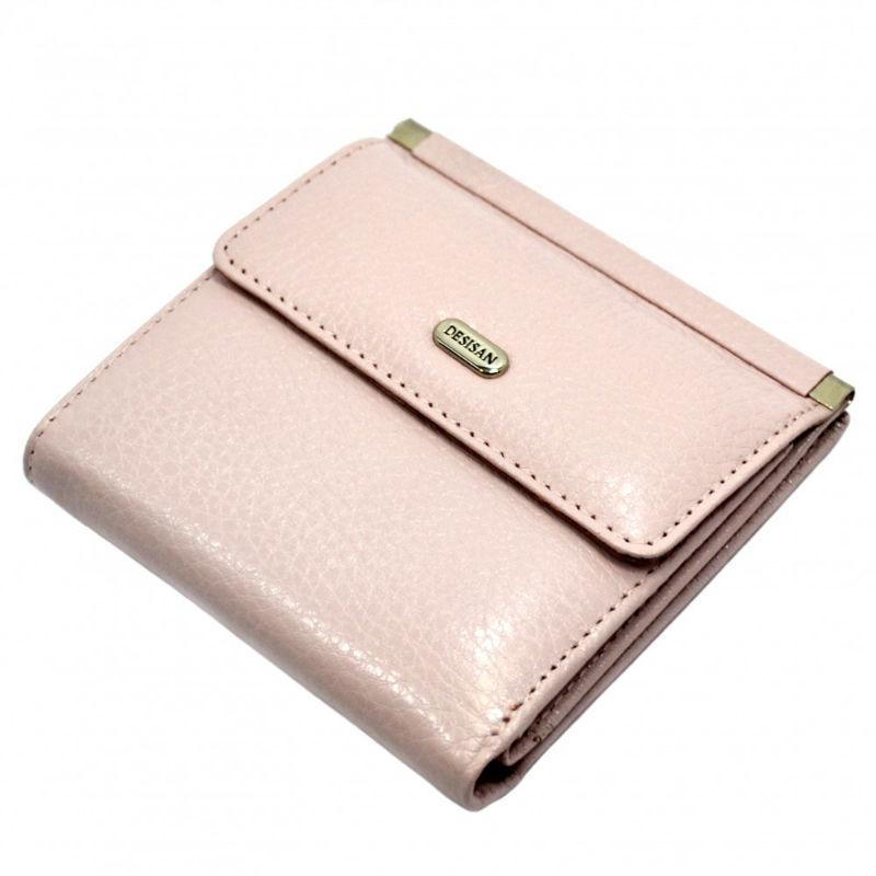 17efc7be04c2 Кошелек женский кожаный Desisan 067-606 пудра | Продажа, обзор, дешево
